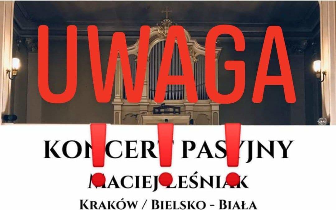 KONCERT – UWAGA !!!