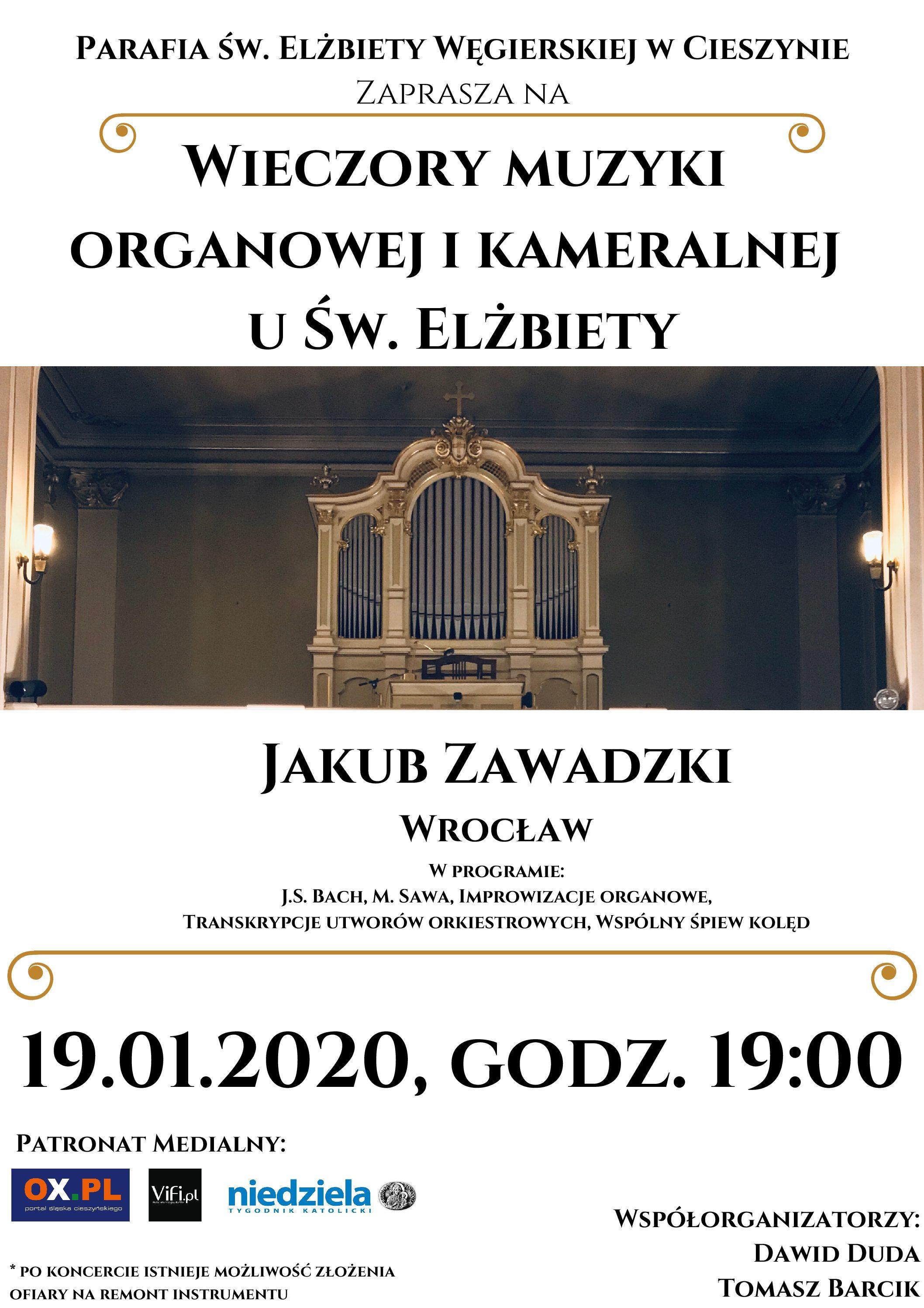 Wieczory Muzyki Organowej i Kameralnej u św. Elżbiety – III Koncert