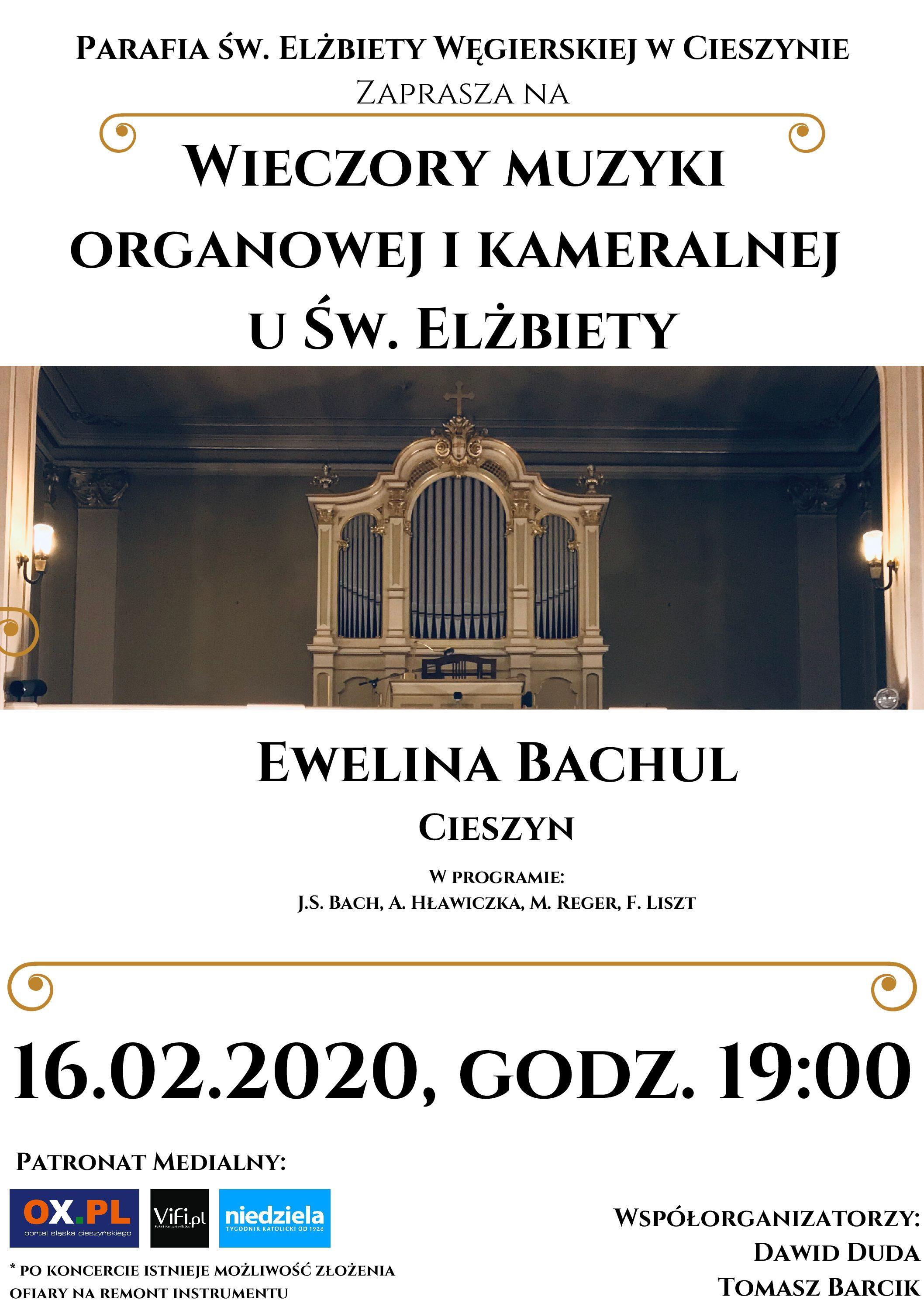 Wieczory Muzyki Organowej i Kameralnej u św. Elżbiety – KONCERT IV
